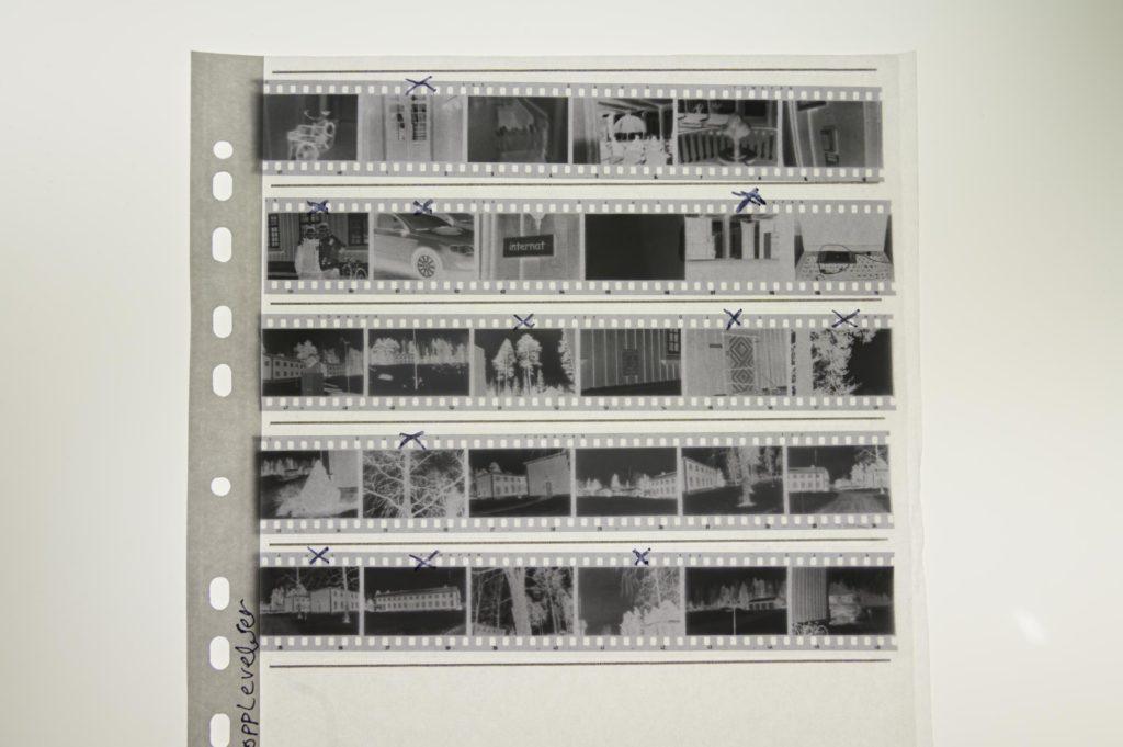 Folder with many 35mm negatives