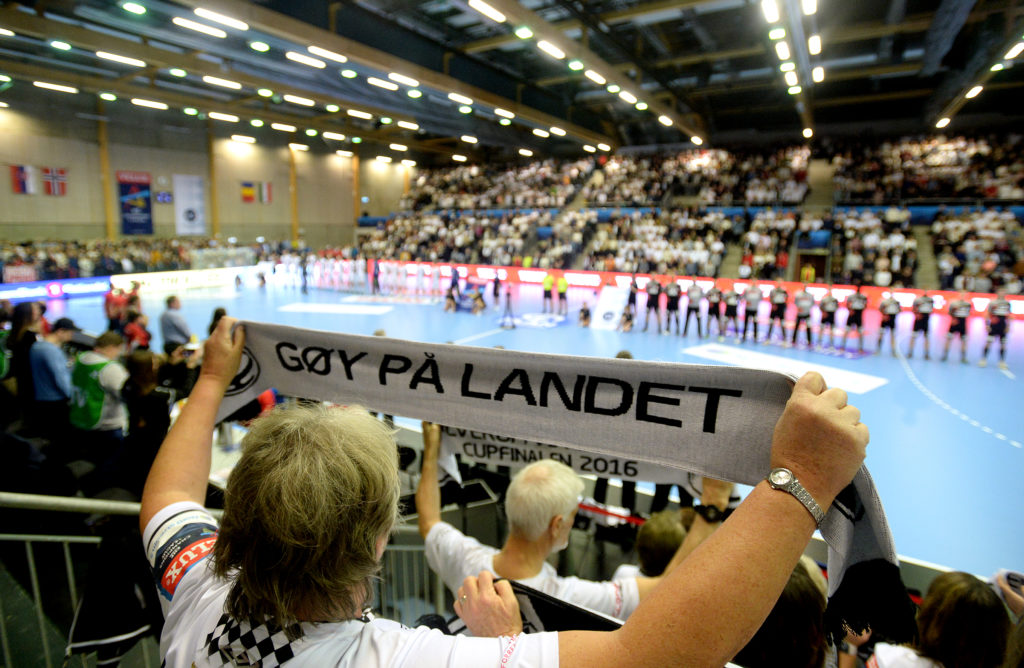 Supporter club Taigaen Heier at Elverum handball in the dice Arena