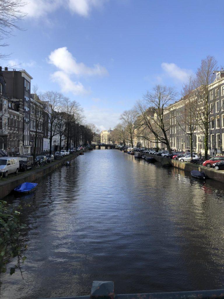 Channel in European city
