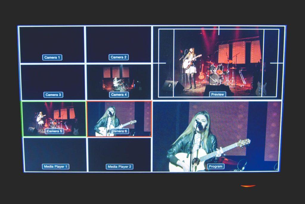 Bilde av skjerm med ulike video inputs