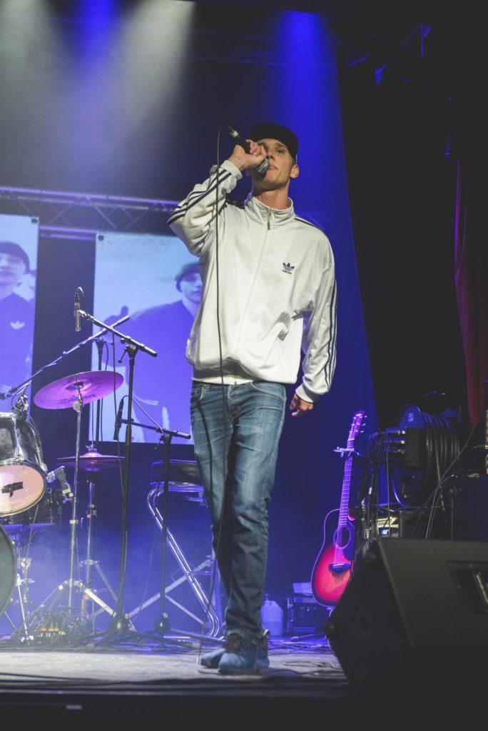 Rapper på scene