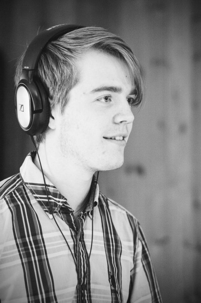 Musiker med headset