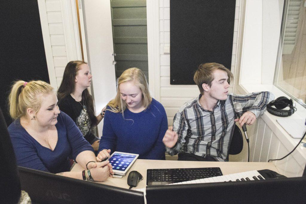 Musikere i studio