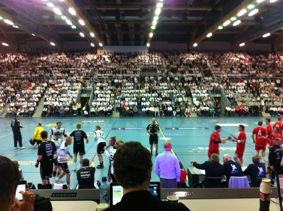 Handball match in Terningen Arena