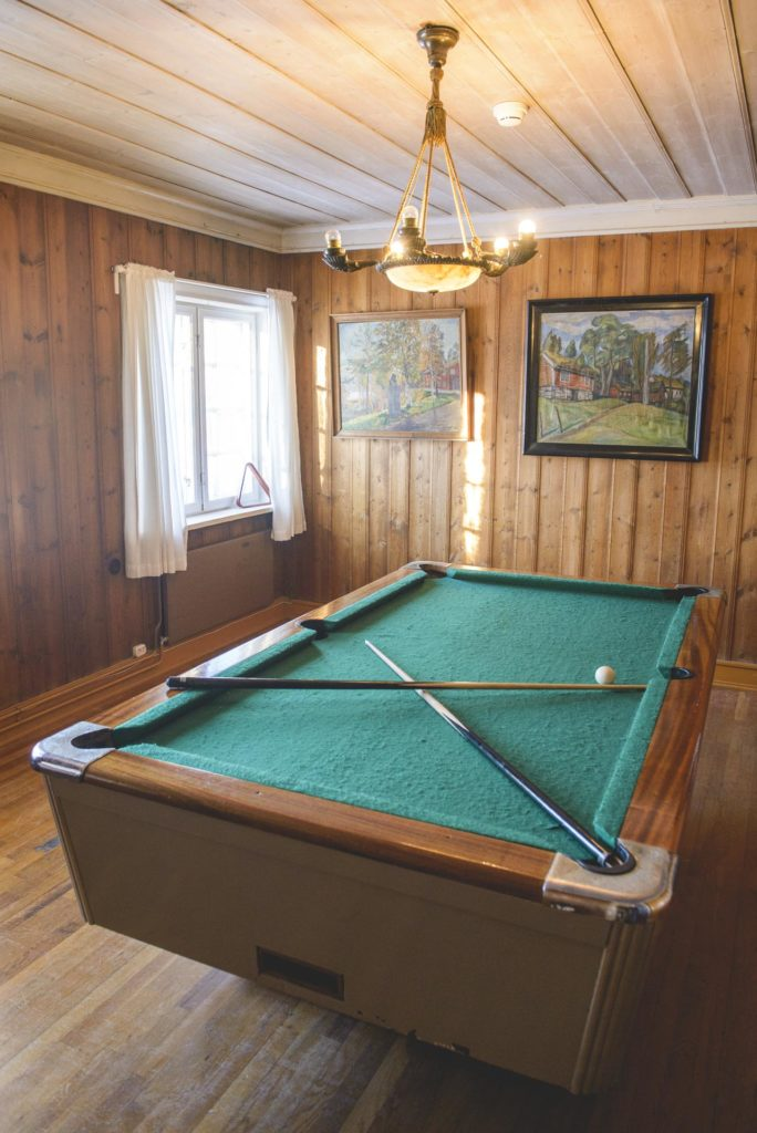Pool table in old room