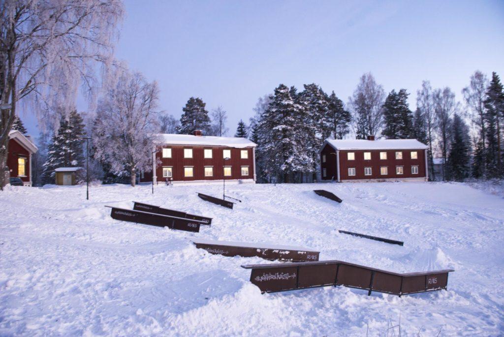 Railpark på Elverum folkehøgskole
