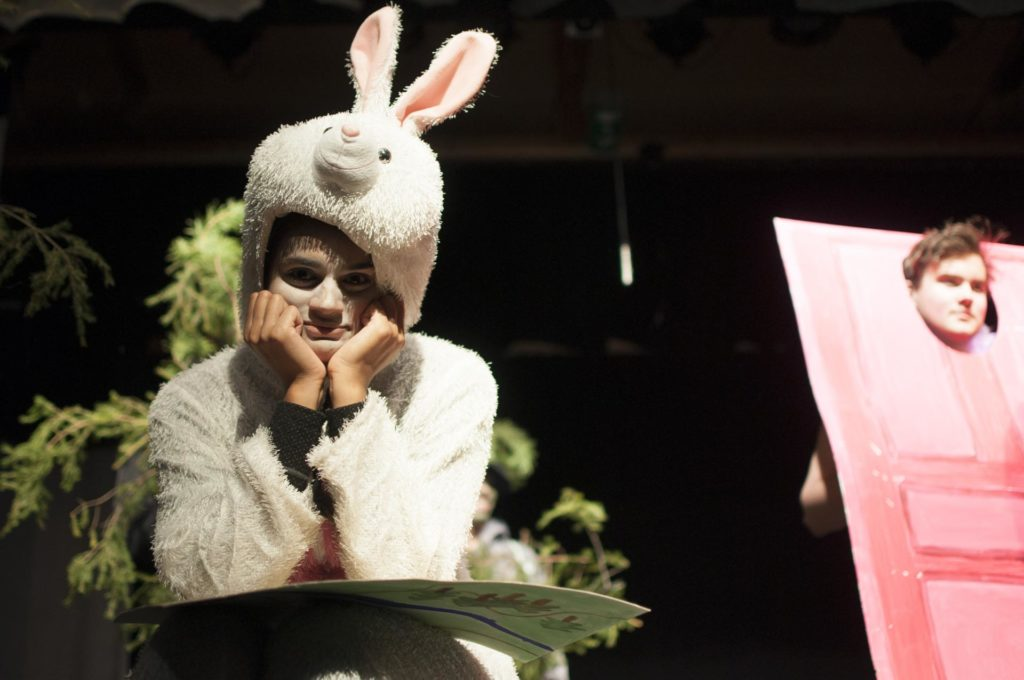 Skuespiller som misfornøyd kanin