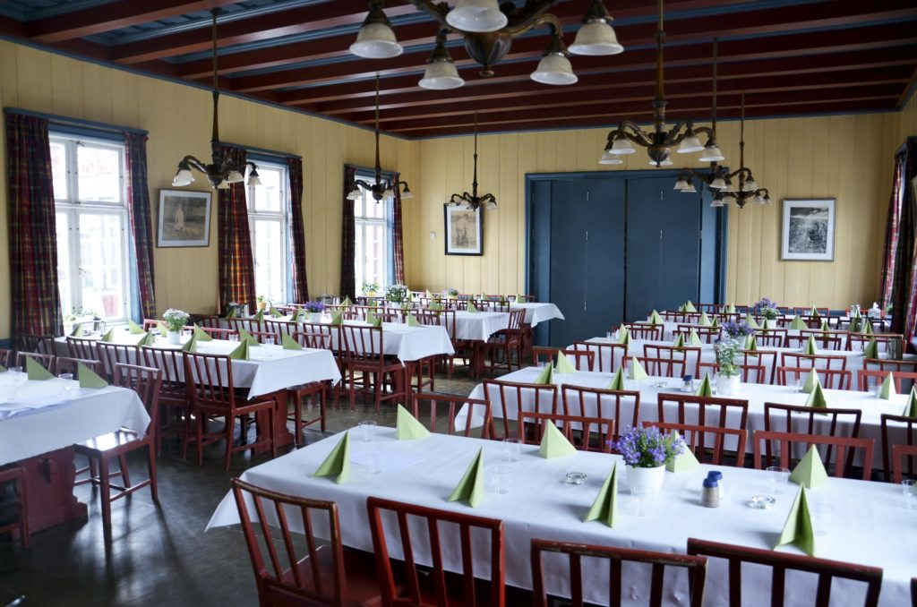 The dining room at Elverum Folk High School