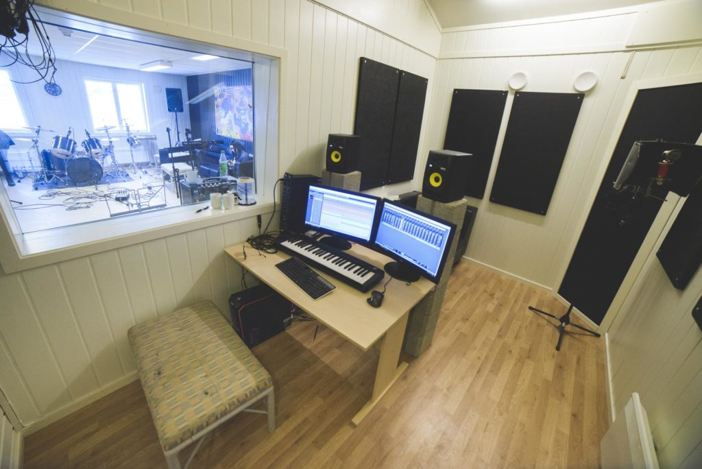 Music studio at Elverum Folk High School