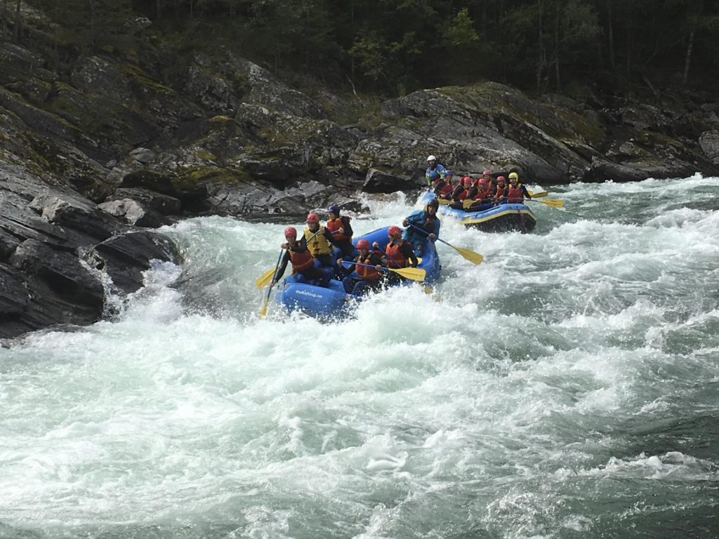 Rafting in stri river