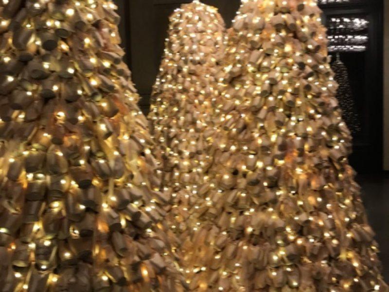 Lysende juletrær