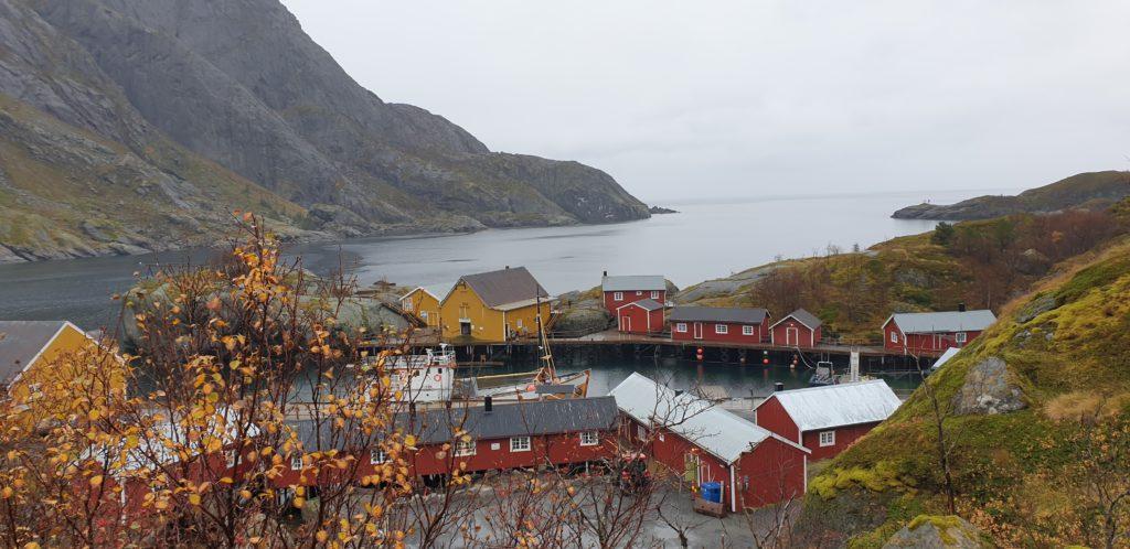 Oversiktsbilde fra Nusfjord
