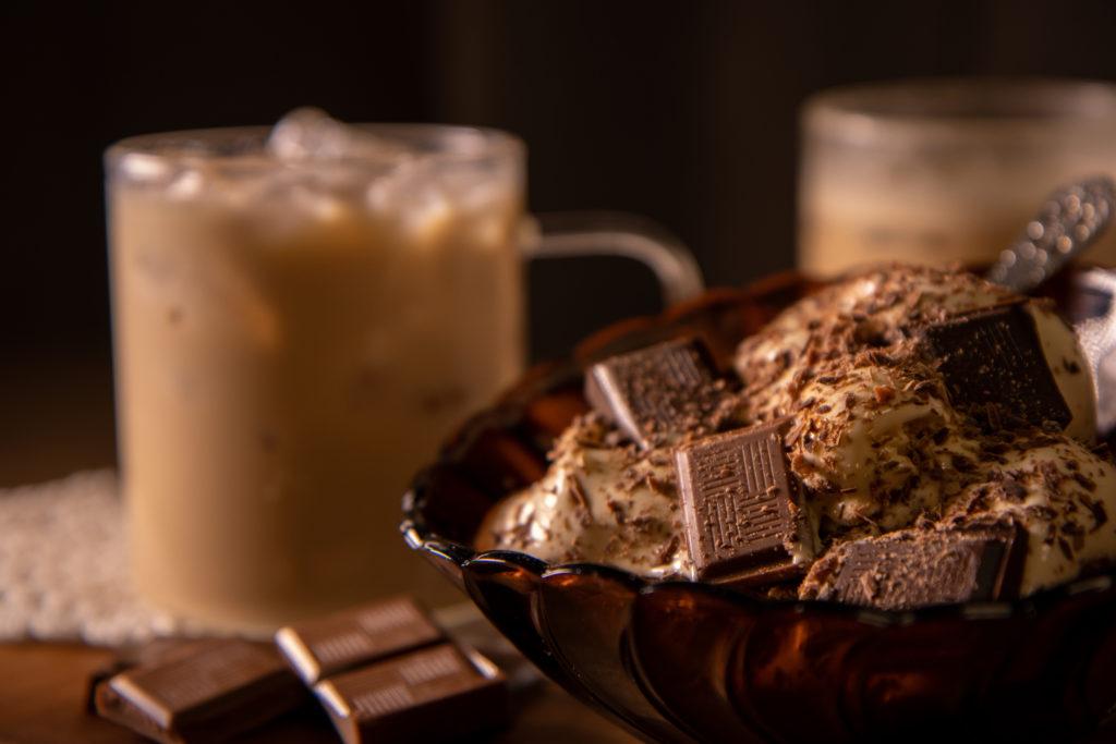 Dessertskål og sjokolade